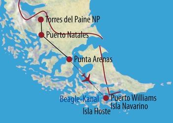 Chile Patagonien Karte.Chile Feuerland Und Patagonien Suedamerika Expeditionen