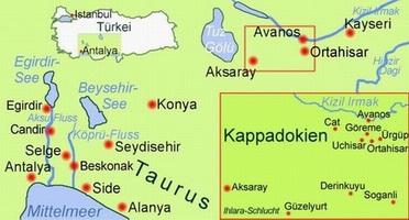 Karte Türkei Kappadokien.Türkei Kappadokien Und Taurusgebirge Vorderasien Expeditionen